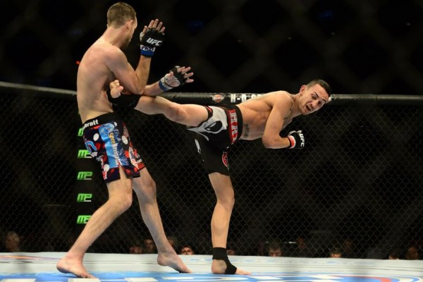 max holloway kicks open cole miller ufc fight 60 2015 images