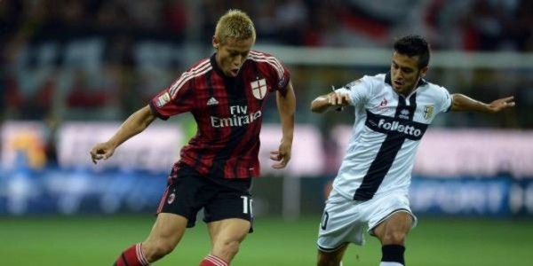 milan beats parma serie a soccer 2015 images