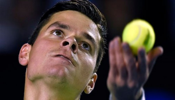 milos raonic top bare seeder tennis back abn amro tournament 2015