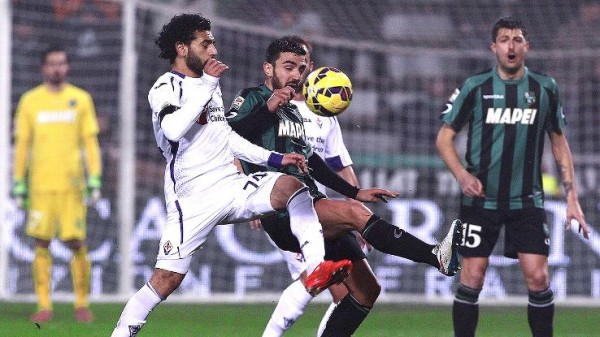 mohamed salah scores for fiorentina vs sassuolo 2015 images