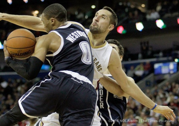 new orleans pelicans nba beat thunders 2015