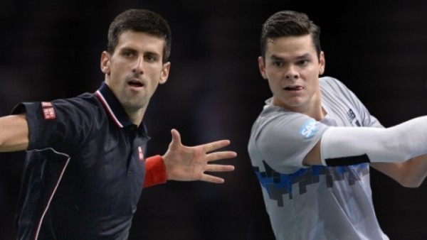 novak djokovic beats milos raonic paris masters 2014 images