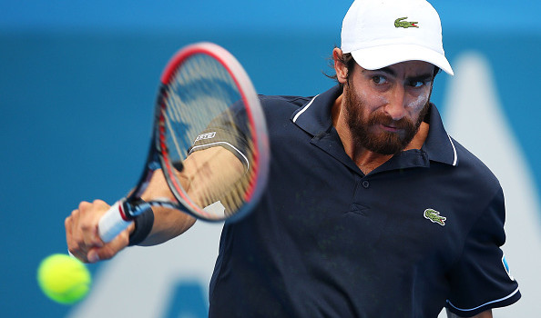 pablo cuevas hitting luca vanni balls back for brasil open 2015