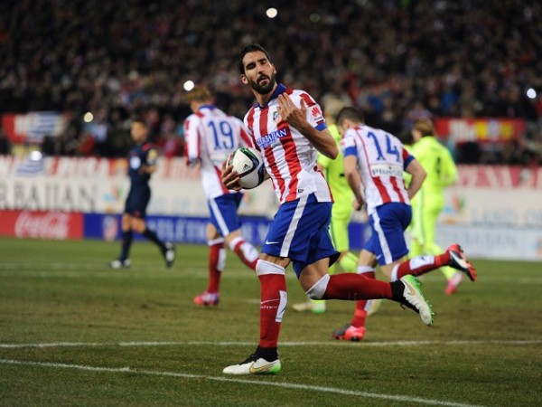 raul garcia bulge win for atletico madrid la liga champs 2015