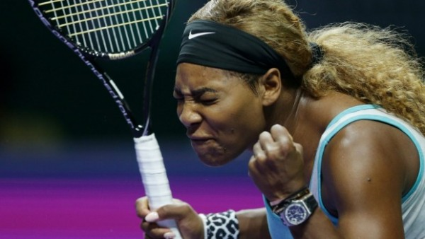 serena williams showing frustration 2015