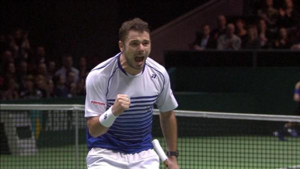 stan wawrinka beats milos raonic abn rotterdam tennis 2015