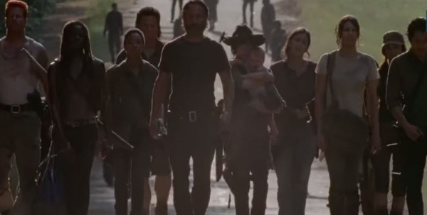 the walking dead gang trailed by walkers ep 10 them images 2015