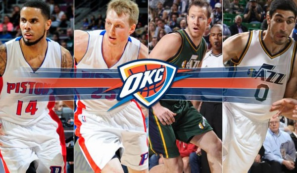 thunder picks up enes kanter augustin and steve novak from jazz nba 2015 images