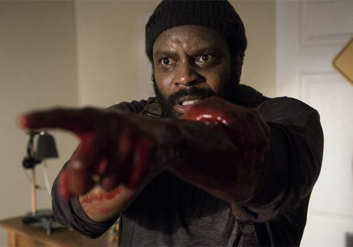 tyreese bitten zombie fever on walking dead season 5 ep 9