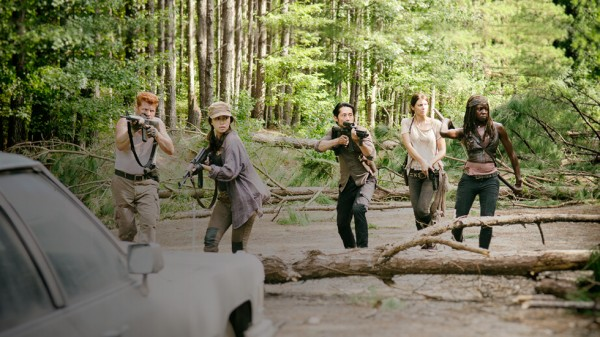 walking dead gang scouting for rick 2015