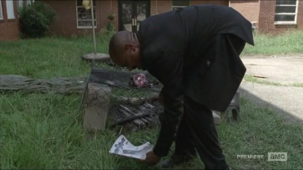 walking dead preacher gabriel finds barbecued foot for coda 2015