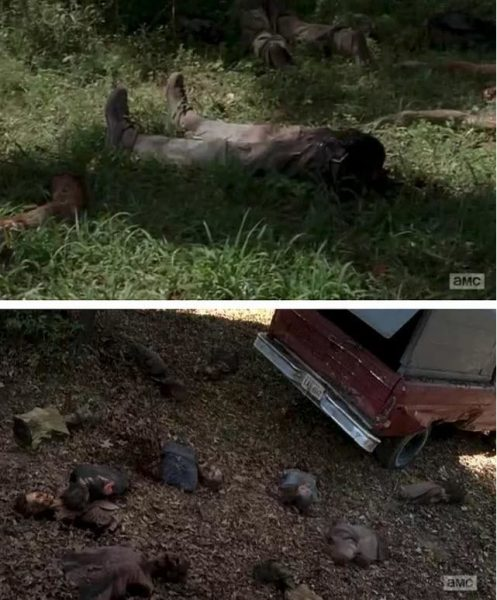 walking dead season 5 what happened zombie parts