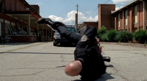 walking dead sgt bob running from rick grimes and falling coda 2015