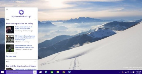 windows 10 cortana integration preview 2015