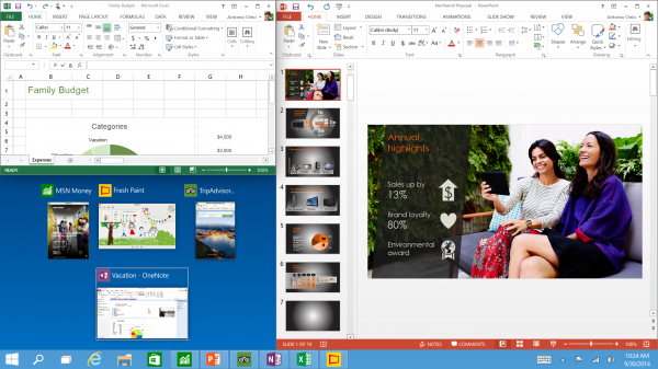 windows 10 task bar view vs windows 8 2015