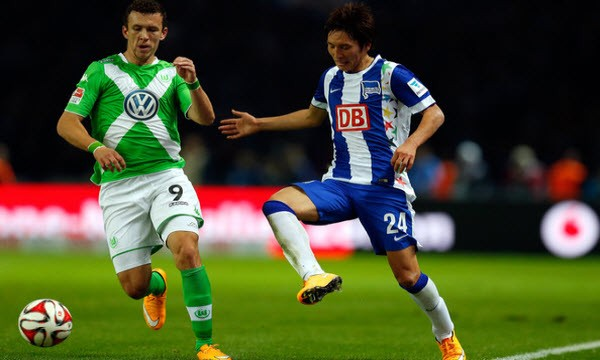 wolfsburg beats hertha soccer 2015