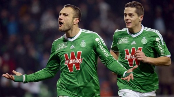 yohan mollo lens draws with saint etienne france ligue 1 soccer 2015