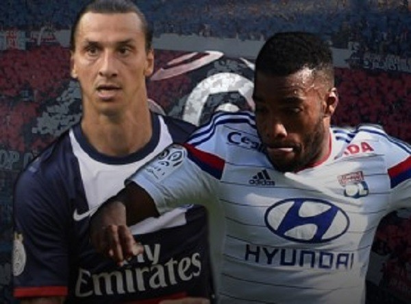 zlatan ibrahimovic vs alexandre lacazette france ligue 1 2015