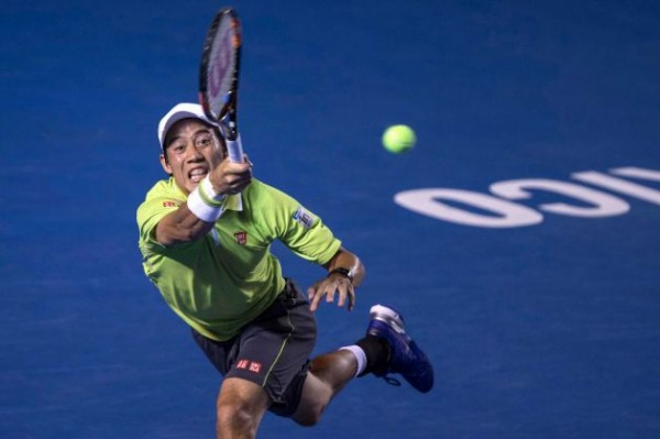 Kei Nishikori aiming high for david ferrers balls in acapulco tennis open 2015