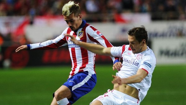 atletico madrid draws la liga with sevilla soccer 2015