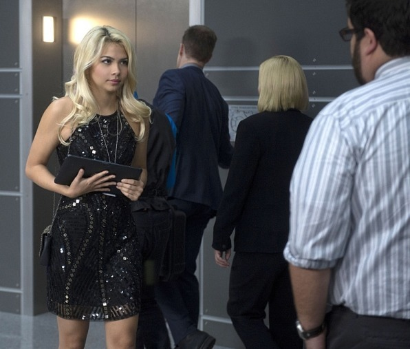 blonde girl on csi cyber in dress 2015