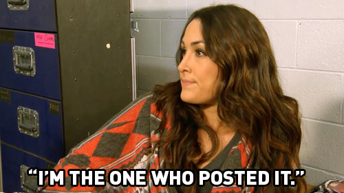 brie admits posting john cena raw valentine wwe total divas 2015