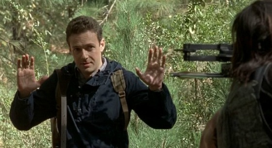 daryl catches aaron following him butte bare walking dead 2015daryl catches aaron following him butte bare walking dead 2015