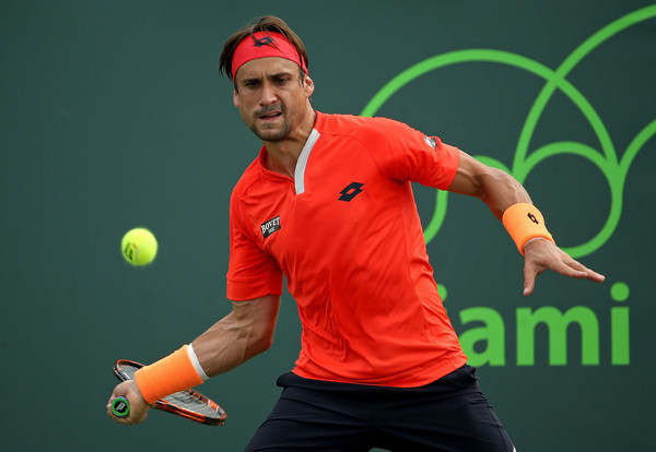 david ferrer hitting ball for rafael nadal at 2015 miami open masters