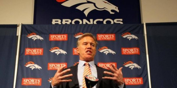 john elway general manager denver broncos working with peyton manning 2015 nfl