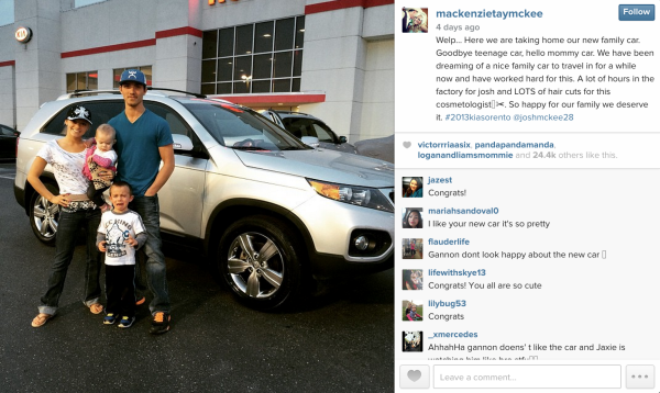 mackenzie mckee new car before crash teen moms 2015 gossip