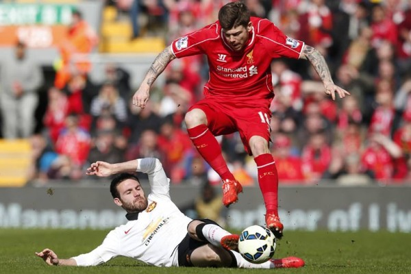manchester united beats liverpool premium league soccer 2015