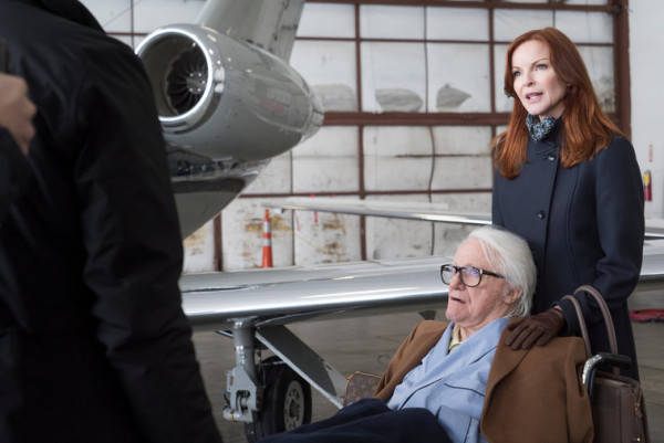 marcia cross robert vaughn at airport hanger for law order svu 2015