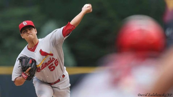 marco gonzales hot pitcher for st louis cardinals baseball 2015