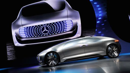 mercedes benz prototype for self driving car