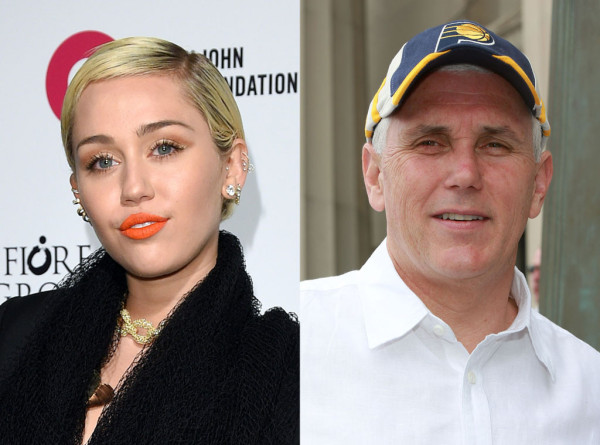 miley cyrus called out mike pence for gay laws 2015 gossip