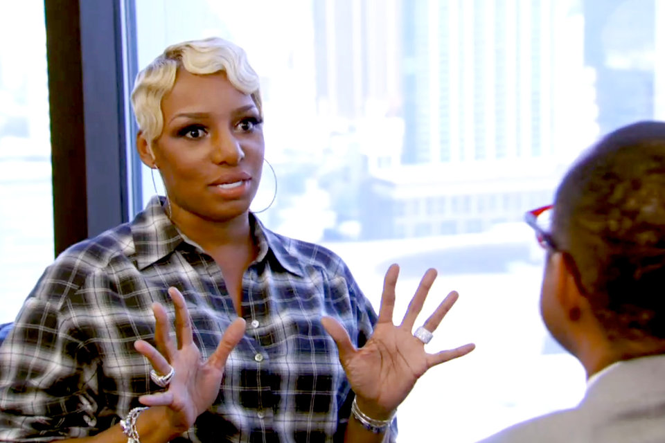 Nene Leakes talking to therapist about group counseling on rhoa 2015