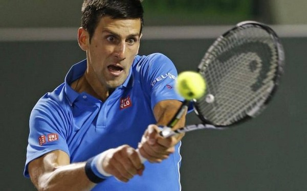 novak djokovic has tough battle to beat alexandr dolgopolov at 2015 miami open masters