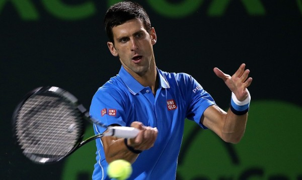 novak djokovic playing david ferrer 2015 miami open masters