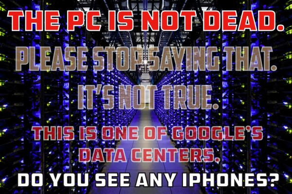 pc is not dead and no iphones 2015