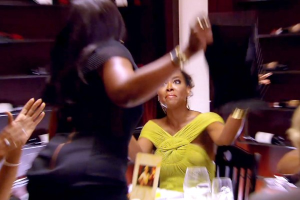 phaedra hits kenya moore with purse real housewives of atlanta 2015