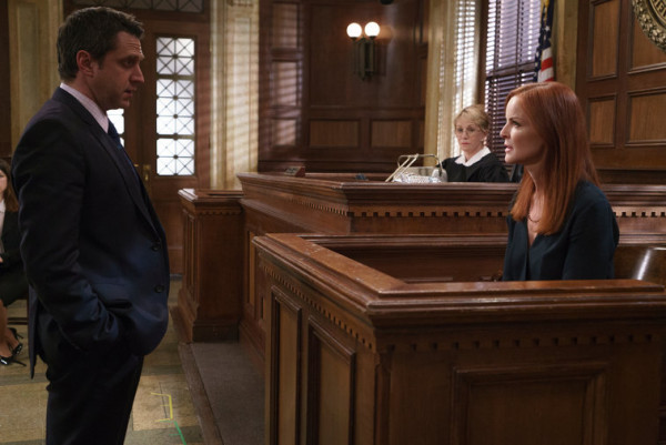 rafael barba giving marcia cross trial for law order svu 2015