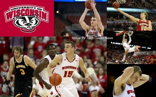 sam dekker university of wisconsin basketball play images 2015
