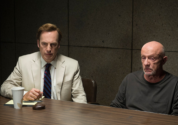 saul jimmy with mike in philly police on better call saul 2015