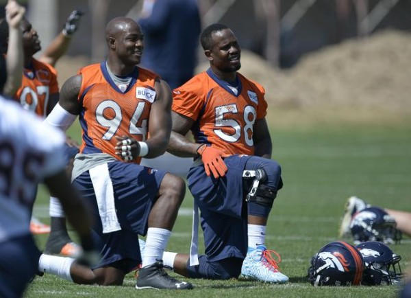 von miller with demetrius ware threat to san diego chargers 2015 nfl