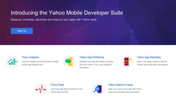 yahoo mobile development suite 2015