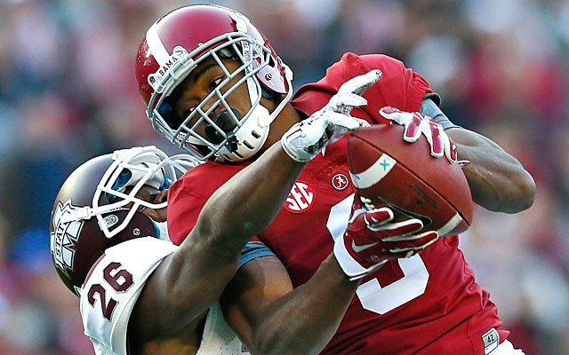 amari cooper draft nfl dolphins likely him getty playoffs mock rams ranking wrs could round receiver returned taken spring making