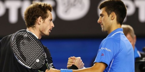 andy murray taking loads from novak djokovic bare 2015 back miami open