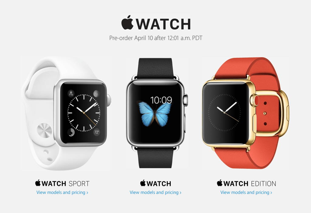 Apple Watch Preorder Wait Listing Begins
