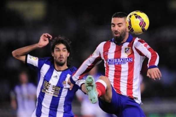 atletico madrid beats real sociedad la liga 2015
