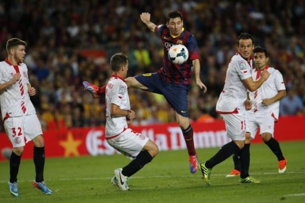 barcelona draws with sevilla la liga 2015 images